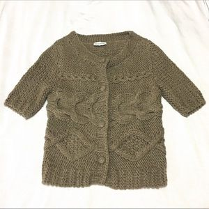 Soft Surroundings Cable Knit Sweater Cardigan